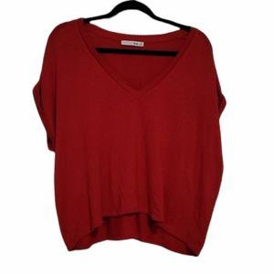 Aritzia Wilfred Free Red Brosh Tshirt